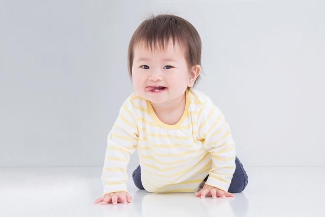 はいはいする赤ちゃんの写真